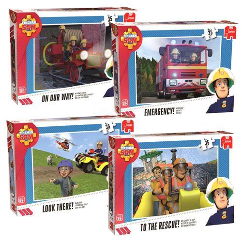 Puzzle | 35 Teile | Feuerwehrmann Sam | Ravensburger | Legespiel – Bild 1