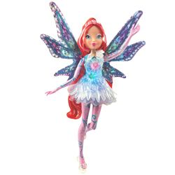 Winx Club - Tynix Magic Lights Puppe - Fee Bloom magisches Gewand mit Licht – Bild 2