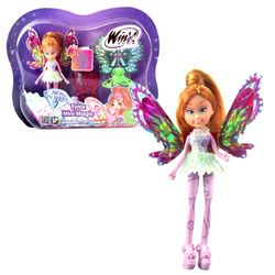 Winx Club - Tynix Mini Magic Puppe - Fee Flora mit Verwandlungsfunktion – Bild 1