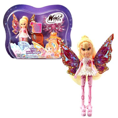 Stella | Tynix Mini Magic Puppe | Winx Club | Fee mit Verwandlung | 12 cm – Bild 1