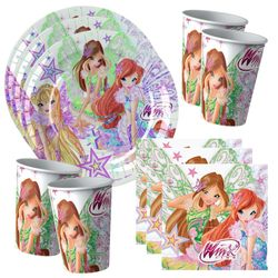 Winx Club - Butterflix - Set Party Teller Becher Servietten Partygeschirr – Bild 1