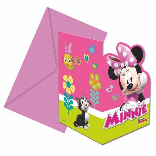 Einladungskarten Mouse | 6 Stück | Minnie Maus | Kinder Party Geburtstag