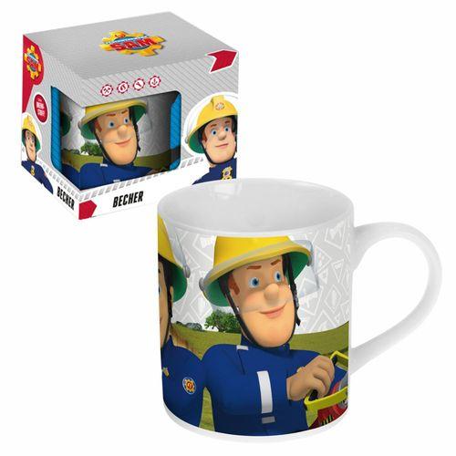 Porzellan Tasse | Feuerwehrmann Sam | 200 ml | Henkel-Becher in Geschenkbox