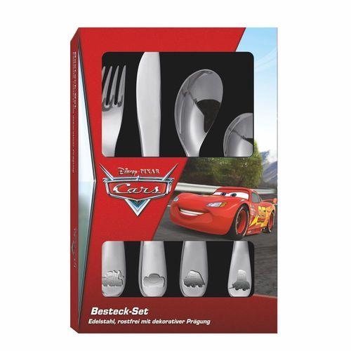 Besteck-Set Kinder   Disney Cars   4-teilig   Edelstahl mit dekorativer Prägung – Bild 2