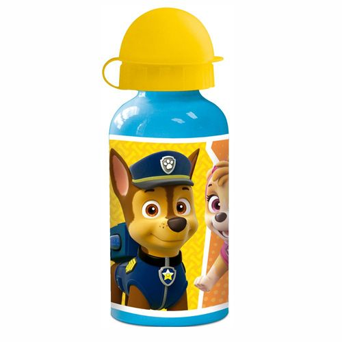 Alu-Trinkflasche | blau gelb 400 ml | Paw Patrol | Sport-Aluminium-Flasche