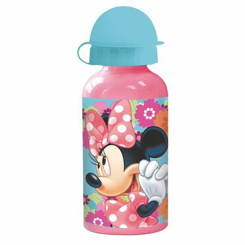 Alu-Trinkflasche Mouse | rosa 400 ml | Minnie Maus | Sport-Aluminium-Flasche
