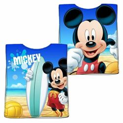 Bade-Poncho Mickey Mouse | 50 x 100 cm | Disney Micky Maus | Handtuch Badetuch 001