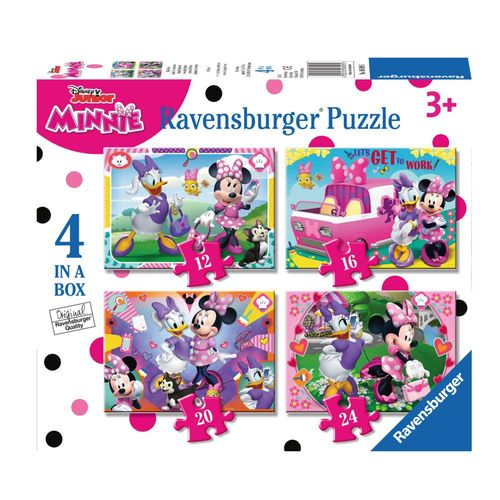 Kinder  Puzzle Box | 4 in 1 | Disney Minnie Maus | Ravensburger – Bild 1