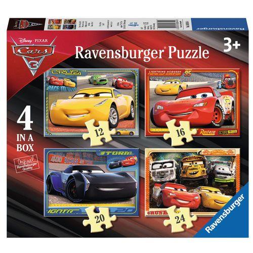 Kinder Puzzle Box | 4 in 1 | Disney Cars 3 | Ravensburger | Legespiel – Bild 1