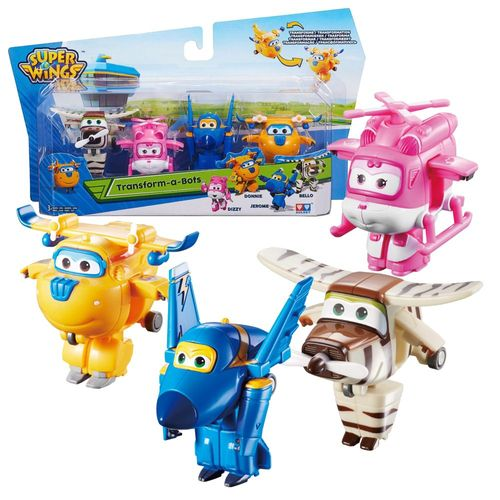 Flugzeuge Jerome, Donnie, Dizzy, Bello | Super Wings | Set Mini Transform  – Bild 1