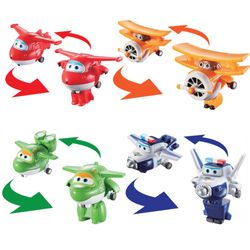 Super Wings - Set Mini Transform Flugzeuge Jet, Mira, Paul, Grand Albert – Bild 3