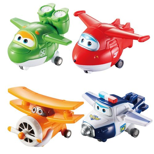 Flugzeuge Jett, Mira, Paul, Grand Albert | Super Wings | Set Mini Transform – Bild 1