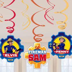 Spiral Wirbel | 6 Stück | Feuerwehrmann Sam | Kinder Party | Zimmer Dekoration