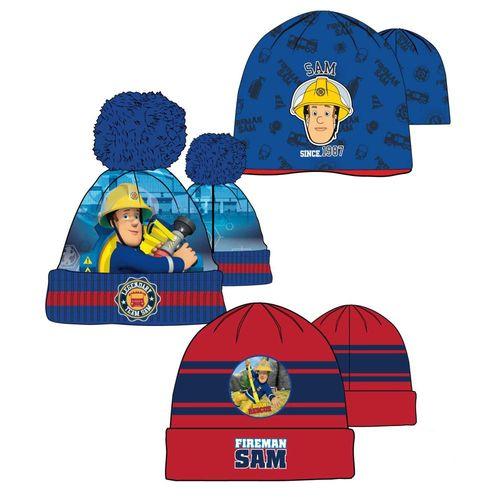 Auswahl Strick Mütze | Größe 52 - 54 | Feuerwehrmann Sam | Kinder Kopfbedeckung – Bild 1