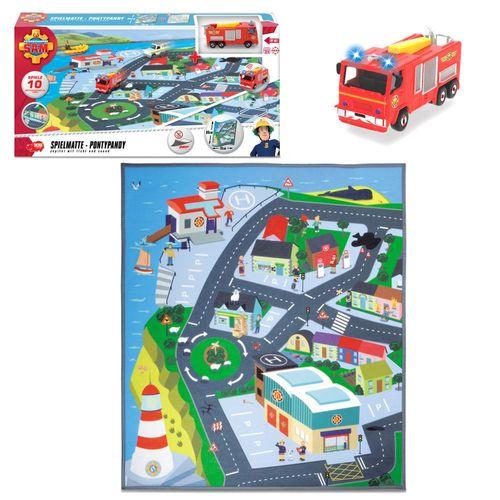 Pontypandy | Spielmatte | Spielteppich | 80 x 70 cm | Feuerwehrmann Sam – Bild 1