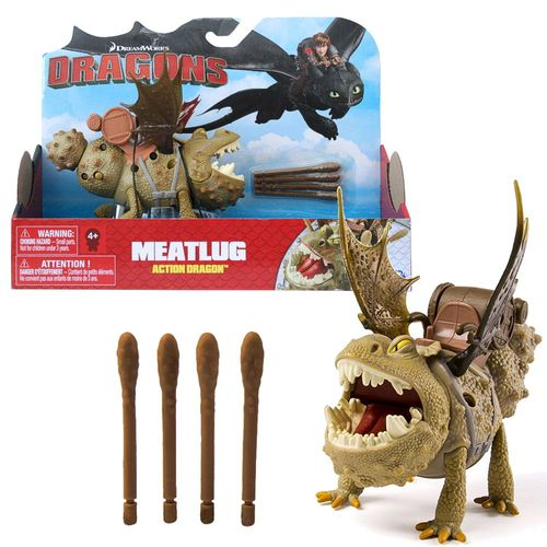 Fleischklops Drachen Spikes | Action Spiel Set | DreamWorks Dragons | Meatlug