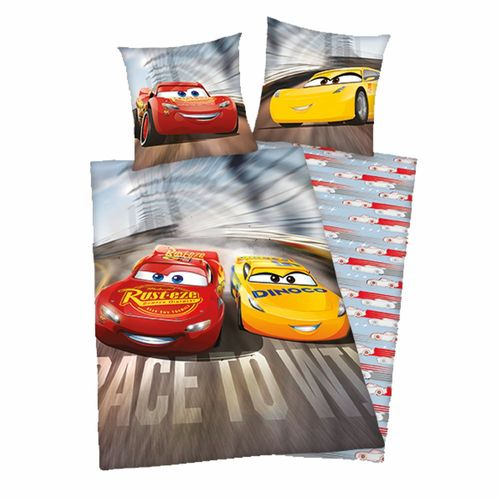 Winter Bettwäsche | Baumwolle 135 x 200 cm | Disney Cars | Kinder Garnitur