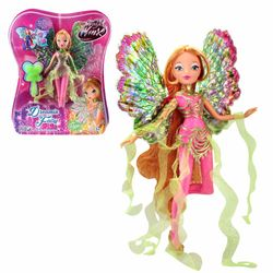 World of Winx - Dreamix Fairy Puppe - Fee Flora magisches Gewand – Bild 4