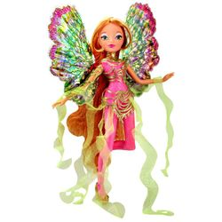 World of Winx - Dreamix Fairy Puppe - Fee Flora magisches Gewand – Bild 3