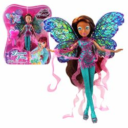 World of Winx - Dreamix Fairy Puppe - Fee Layla Aisha magisches Gewand – Bild 4