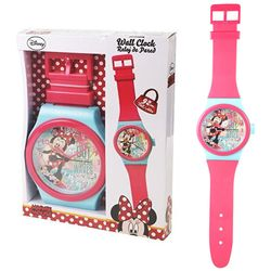 Rosa Minnie Wanduhr | Kinderzimmer Uhr | 92 cm | Disney Minnie Maus