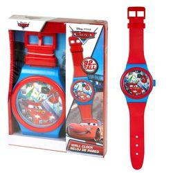 Wanduhr Lightning McQueen | 92 cm | Disney Cars | Kinderzimmer | Uhr Analog