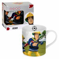 Porzellan Tasse Team | Feuerwehrmann Sam | 200 ml | Henkel-Becher | Geschenkbox