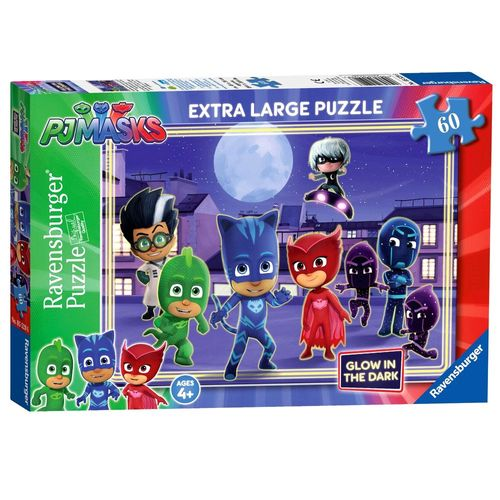 Glow in the Dark | Puzzle 60 Teile | Ravensburger | Pyjamahelden  | PJ Masks – Bild 1