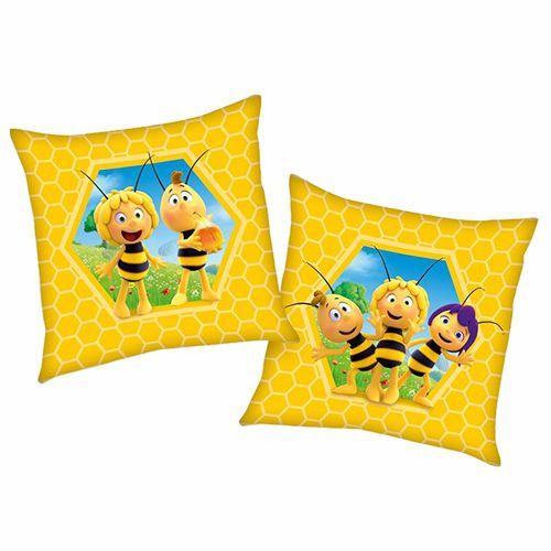 Bienenwabe | Kinder Kissen 40 x 40 cm | Biene Maja | Kuschelkissen | Dekokissen