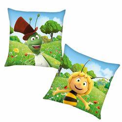 Flip | Kinder Kissen 40 x 40 cm | Biene Maja | Kuschelkissen | Dekokissen