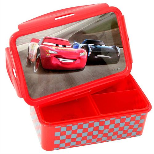Brotdose | Lunch to Go | Kinder Vesper Dose | Disney Cars | mit 2 Einsätzen – Bild 1