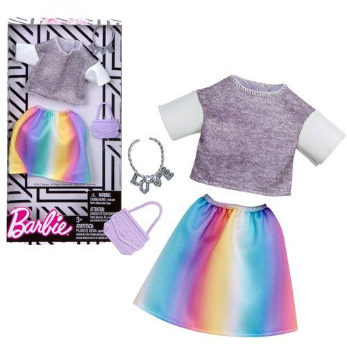 Set T-Shirt & Rock bunt | Barbie | Mattel FKT03 | Trend Mode Puppen-Kleidung