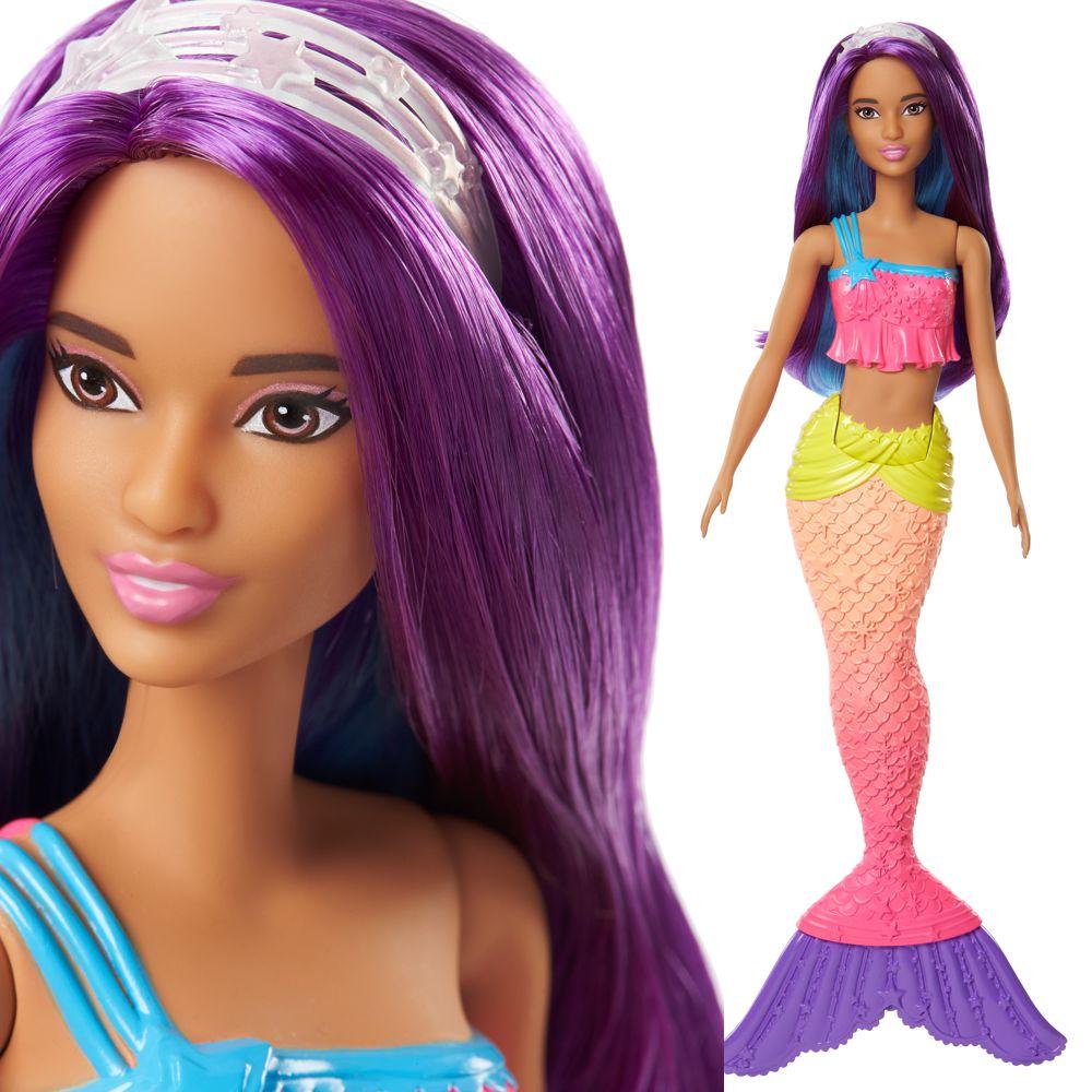 Regenbogen Meerjungfrau Lila Haare Mattel Fjc90 Dreamtopia Barbie Puppe