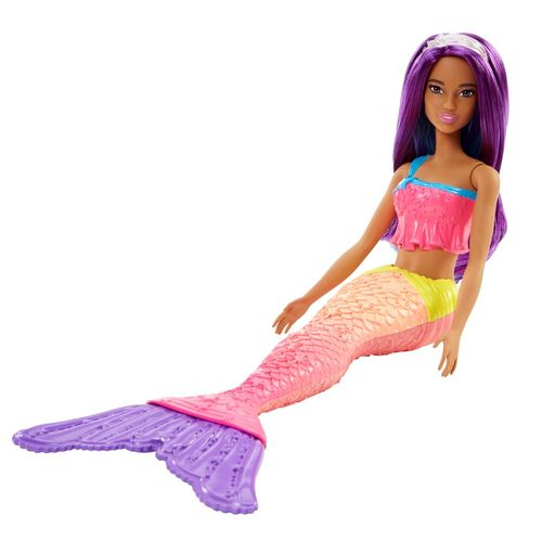 Regenbogen Meerjungfrau | Lila Haare | Mattel FJC90 | Dreamtopia | Barbie Puppe – Bild 3