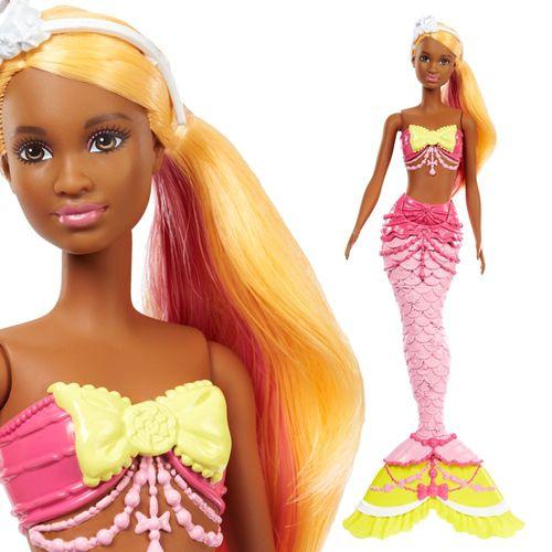 Regenbogen Meerjungfrau | Mattel FJC91 | Dreamtopia | Barbie Puppe – Bild 1