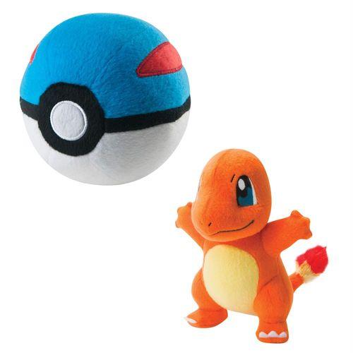 Glumanda & Superball | Pokemon Plüsch-Figuren Set | in Fensterbox | Tomy – Bild 1