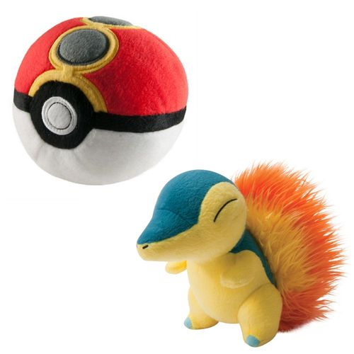 Feurigel & Repeat Ball | Pokemon Plüsch-Figuren Set | in Fensterbox | Tomy – Bild 1