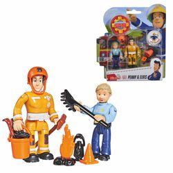 Penny & Elvis | Feuerwehrmann Sam | Spiel Figuren Set | Simba Toys