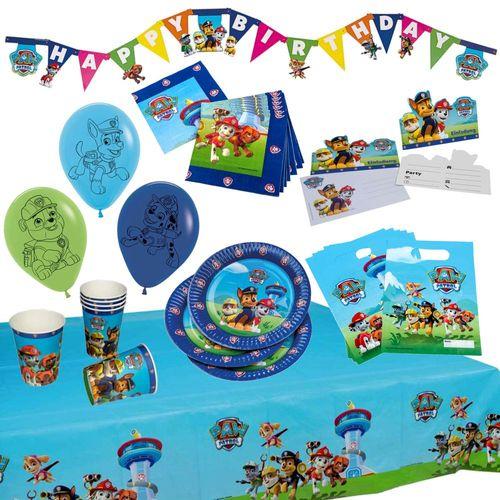 XXL Party Geburtstag Set für Jungs | Paw Patrol | Partykoffer 51 Teile – Bild 1
