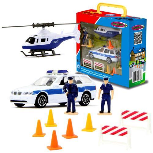 Polizeiauto & Helikopter | Spielset mit Figuren | von Jamara | Die Cast | BMW – Bild 1