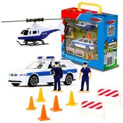 Polizeiauto & Helikopter | Spielset mit Figuren | von Jamara | Die Cast | BMW 001