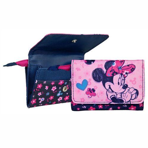 Mädchen Geldbörse | Minnie Maus Mouse | Rosa | Kinder Portemonnaie | Etui – Bild 1