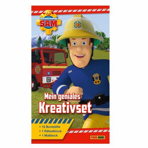 Mein geniales Kreativset | Feuerwehrmann Sam | Mal- & Rätselblock + Buntstiften