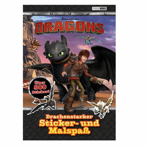 Drachenstarker Sticker- und Malspaß | DreamWorks Dragons | Panini | 500 Sticker