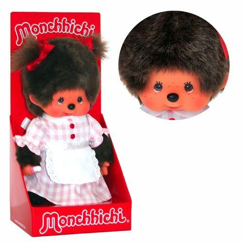 Kellnerin | 20 cm | Monchhichi Puppe | Mädchen | Bedienung im karierten Kleid – Bild 1