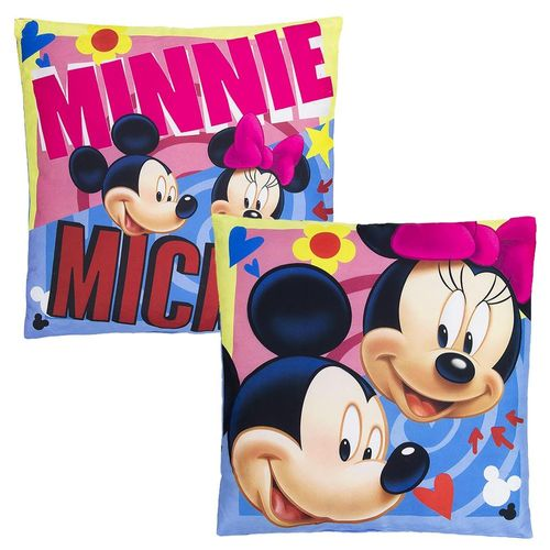 Micky & Minnie Maus | Kinder Kissen 40 x 40 cm | Disney Mickey Mouse – Bild 1