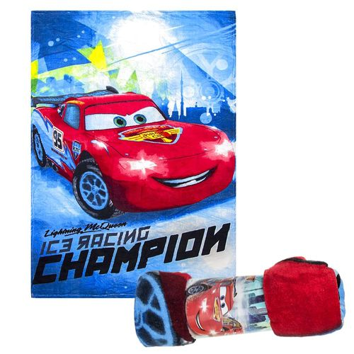 Ice Racing | Decke Fleece | 100 x 150 cm | Disney Cars | Kinder Kuscheldecke – Bild 1