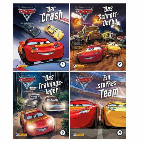Mini Pixi Bücher | Teil 1 - 4 | Disney Cars 3 | Geschichtenband