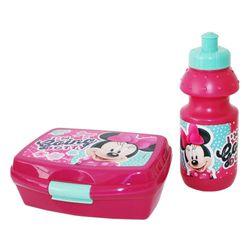 Brotdose & Trinkflasche | Disney Minnie Maus | Frühstücks-Set Lunchbox 001