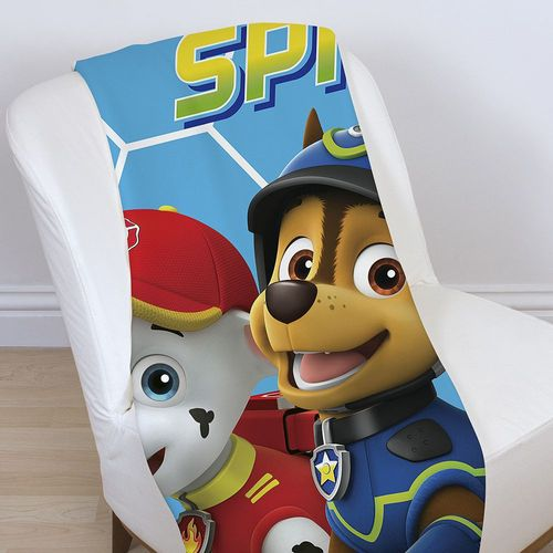 Spy | Decke Coral Fleece | 120 x 150 cm | Paw Patrol | Supersoft Kuscheldecke – Bild 2